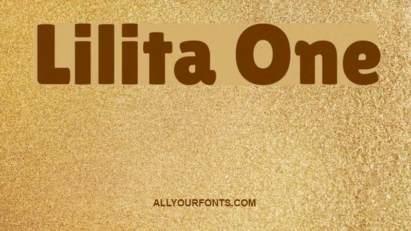 Lilita One Font Family Free Download