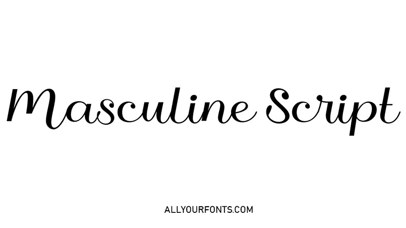 Masculine Script Font Family Free Download