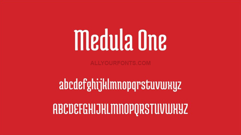 Medula One Font Family Free Download