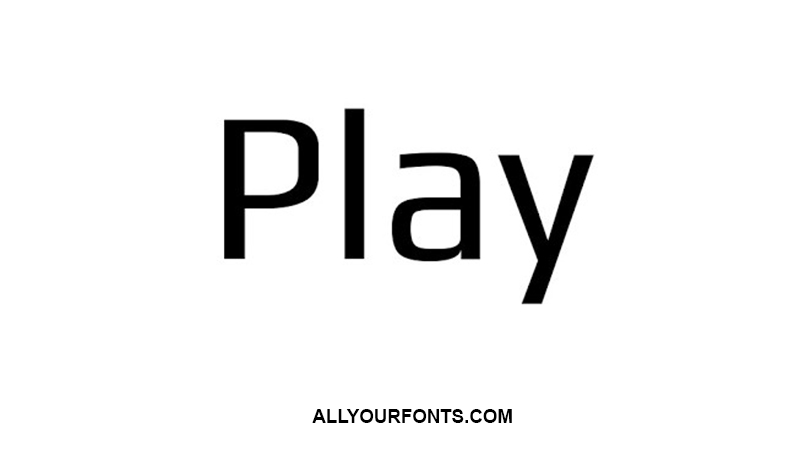 Play Font Family Free Download