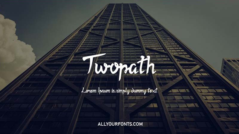 Twopath Font Family Free Download