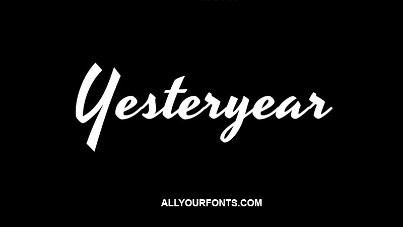 Yesteryear Font Family Free Download