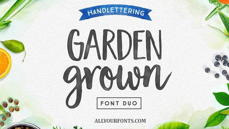Garden Grown Font Free Download