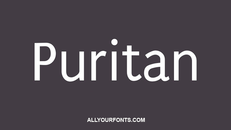 Puritan Font Family Free Download