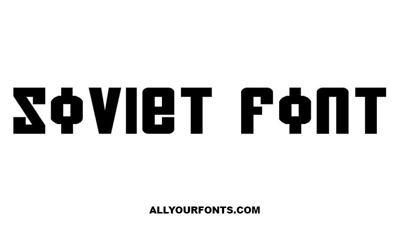 Soviet Font Family Free Download