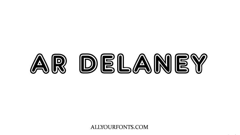 AR Delaney Font Family Free Download