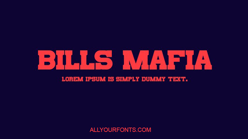 Bills Mafia Font Family Free Download