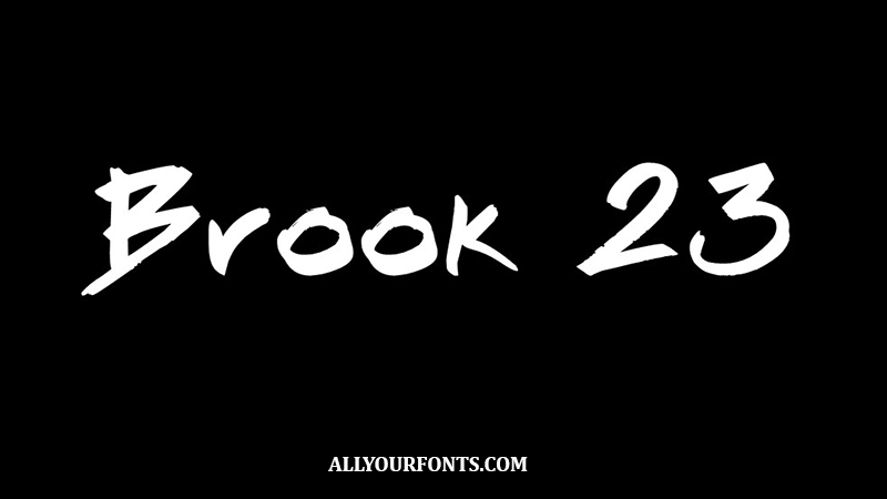 Brook 23 Font Family Free Download