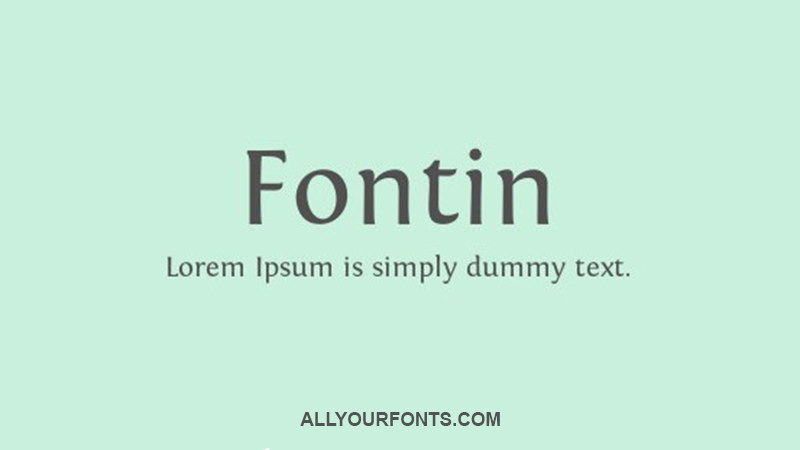 Fontin Font Family Free Download