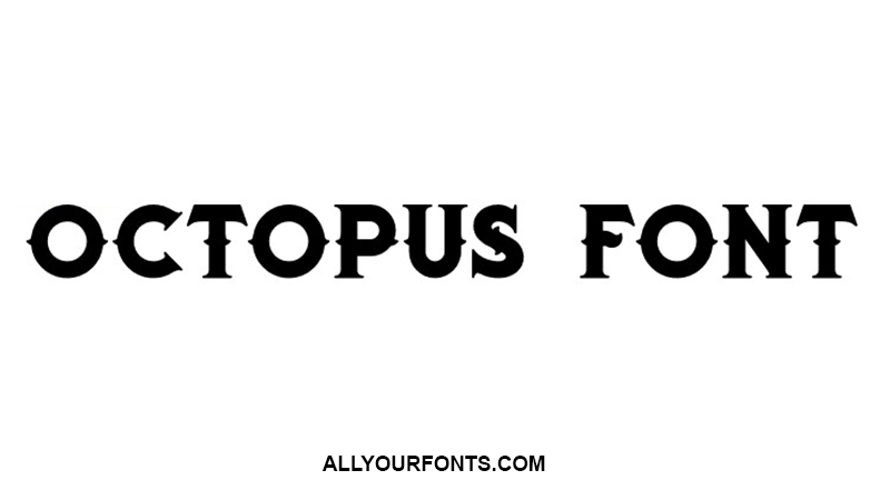 Octopus Font Family Free Download