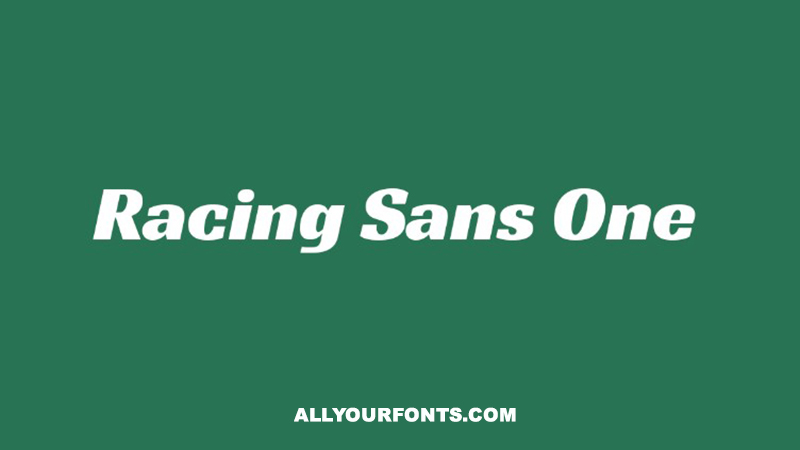 Racing Sans One Font Family Free Download
