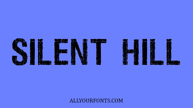 Silent Hill Font Family Free Download
