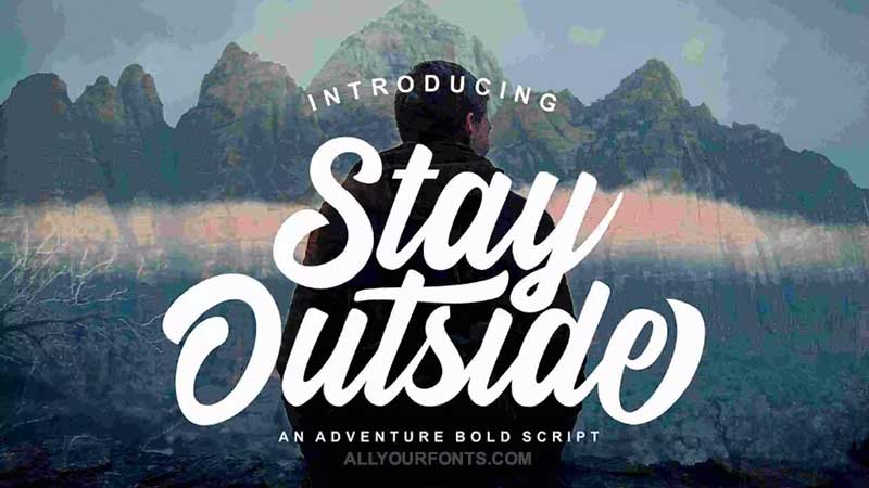 Stay Outside Font Family Free Download