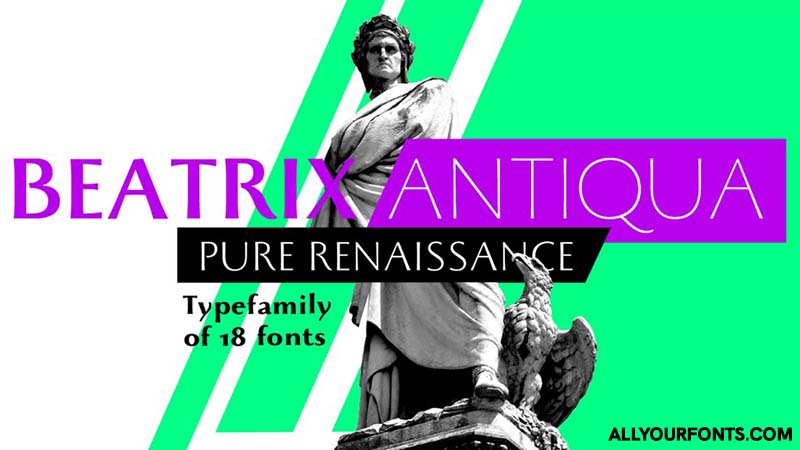 Beatrix Antiqua Font Family Free Download