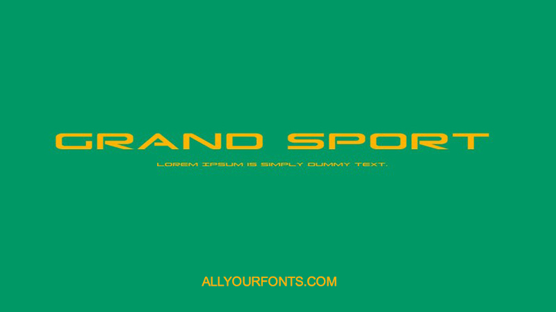 Grand Sport Font Family Free Download