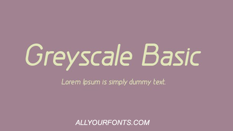 Greyscale Basic Font Family Free Download