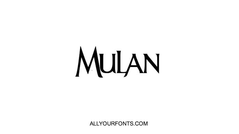 Mulan Font Family Free Download