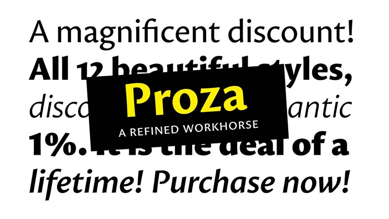 Proza Font Family Free Download