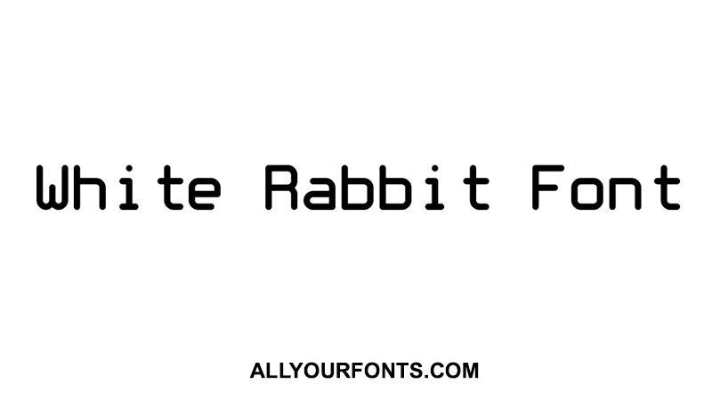 White Rabbit Font Family Free Download