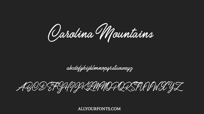 Carolina Mountains Font Family Free Download