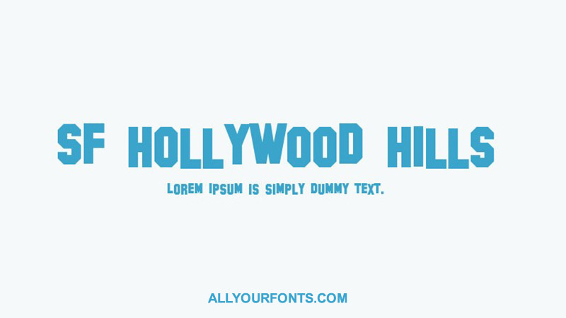Hollywood Hills Font Family Free Download