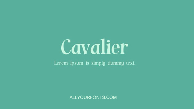Cavaliers Font Family Free Download