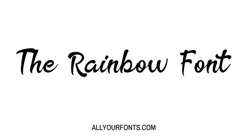 The Rainbow Font Family Free Download