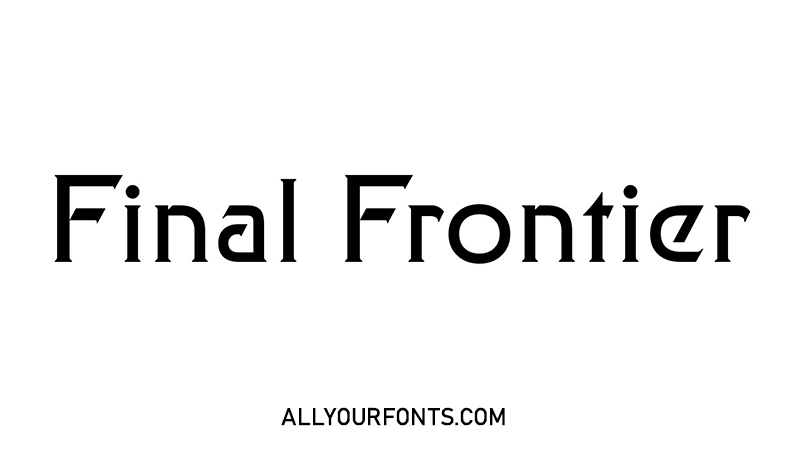 Final Frontier Font Family Free Download