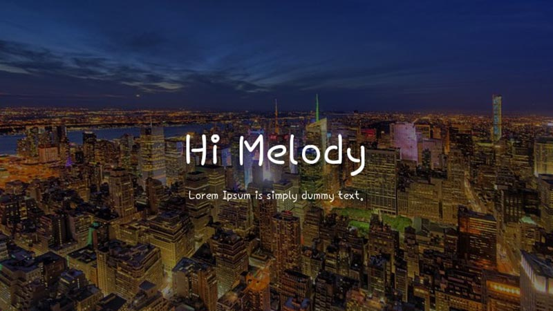 Hi Melody Font Family Free Download
