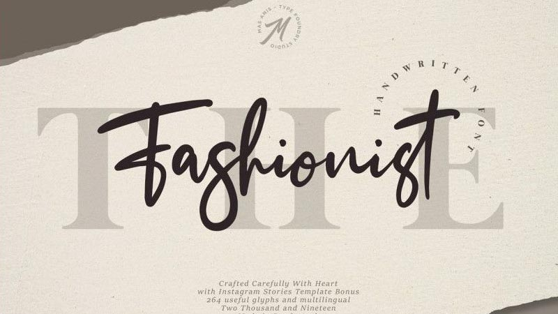 The Fashionist Font Family Free Download