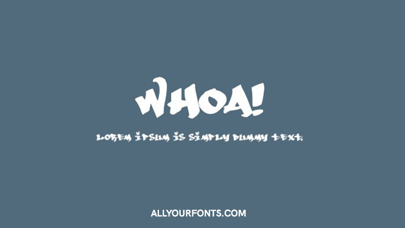 Whoa Font Family Free Download