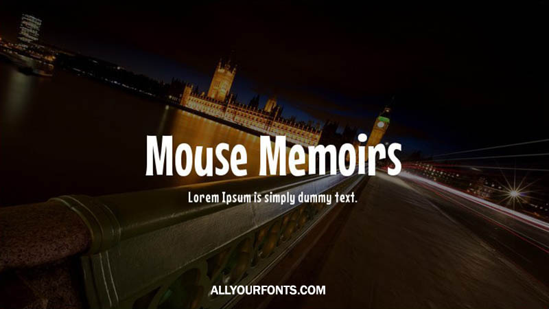 Mouse Memoirs Font Family Free Download