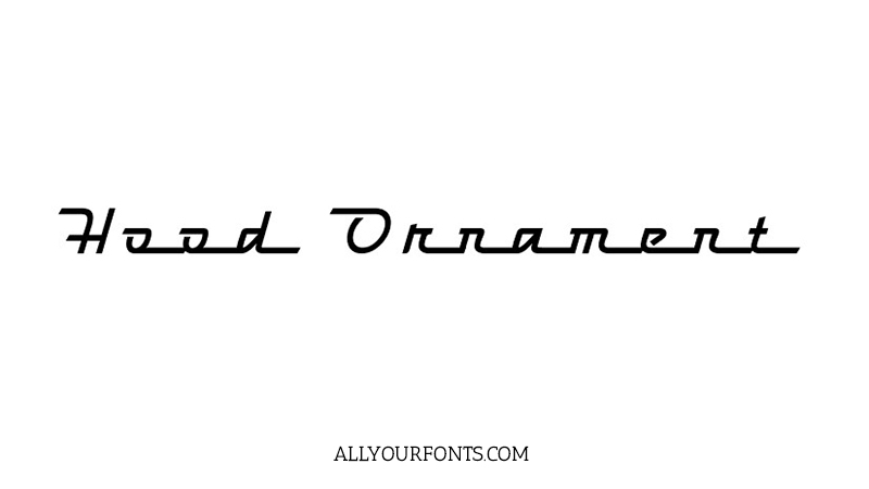 Hood Ornament Font Family Free Download